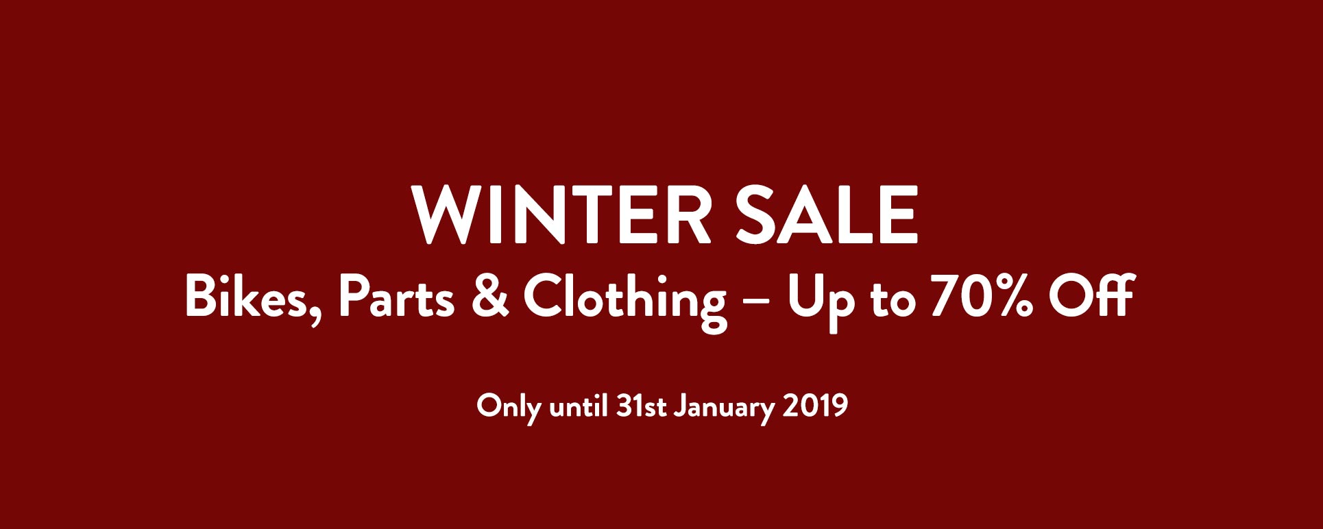 Winter Deals on Clothing & Accessories for Vintage Bicycles
