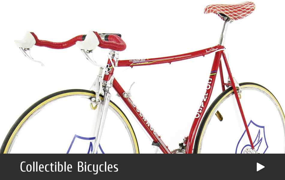A selection of vintage collectible bicycles