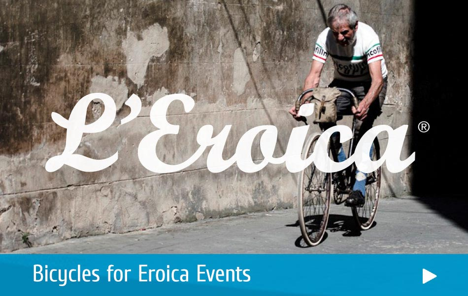 Discover the finest classic bicycles, parts and clothing for Eroica Events!