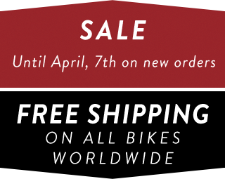 Free shipping on all bikes until 7th April 2017