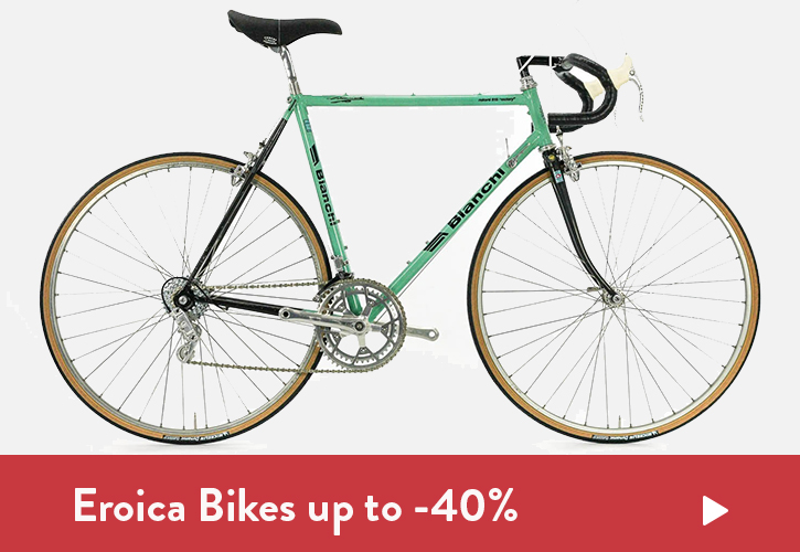 Save 10% up to 40% on Eroica Bicycles
