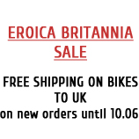 Free Shipping on all bicycles to UK until 10.06.2016